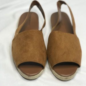 Lane Bryant Camel Open Back Sandals Size 10